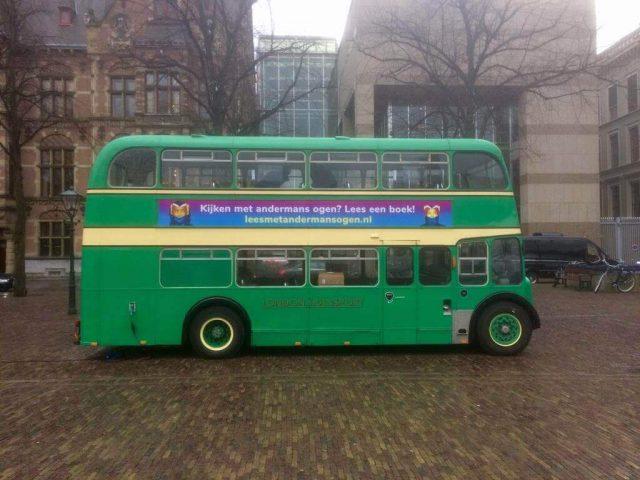 londonbus groen 50 zitplaatsen trouwbus